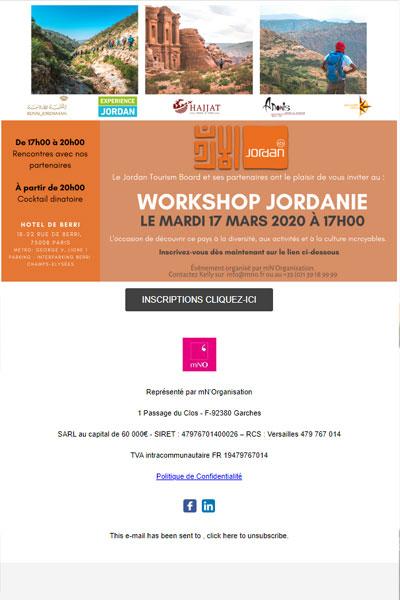 Invitation Workshop Jordanie   Encore quelques jours pour s'inscrire