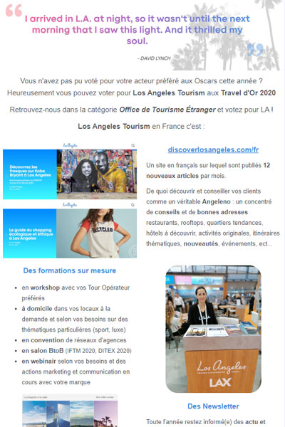 Los Angeles aux Travels d'Or 2020