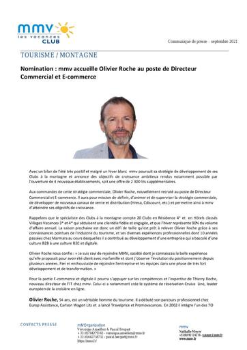 21 - SEPT21 MMV Nomination Olivier Roche