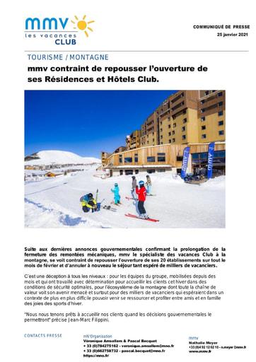 09 - JAN21 FERMETURE ETABLISSEMENTS